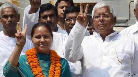 Indien - Wahlkampf der Frauen für das indische Parlament.