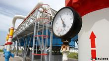 A pressure gauge is seen at an underground gas storage facility in the village of Mryn, 120 km (75 miles) north of Kiev in this May 21, 2013 file photo. Yatseniuk said on Thursday the price Ukraine paid for Russian gas supplies would rise 79 percent from April 1 to $480 per 1,000 cubic metres. Speaking in parliament, Yatseniuk said the expected high price of gas imports from Russia from April was one of the factors pushing the country further towards economic disaster. Picture taken May 21, 2013. REUTERS/Gleb Garanich/Files (UKRAINE - Tags: POLITICS ENERGY BUSINESS)