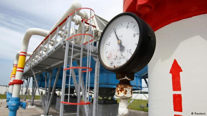 A pressure gauge is seen at an underground gas storage facility in the village of Mryn, 120 km (75 miles) north of Kyiv . REUTERS/Gleb Garanich/Files