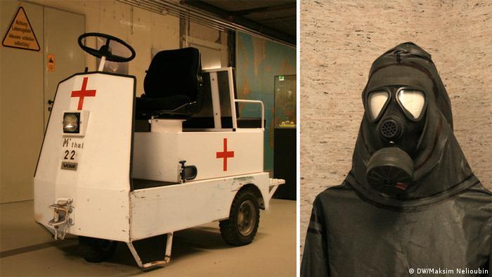 Медицинский электрокар и костюм химической защит