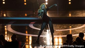 Shakira, performing on stage at the ECHO Awards