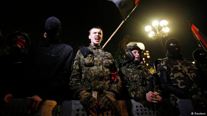Демонстрація Правого сектора на Майдані навесні 2014 року