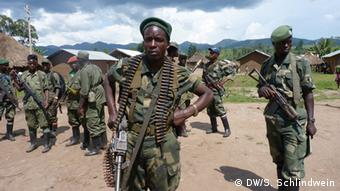 A group of FDLR fighters in eastern DRC