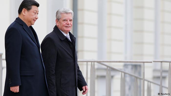 Deutschland China Xi Jinping bei Joachim Gauck in Berlin