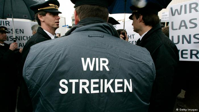 Lufhansa Pilot Streik Archiv 2010 (Getty Images)