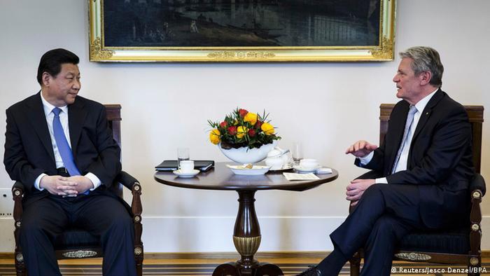Xi Jinping bei Joachim Gauck in Berlin 28.03.2014