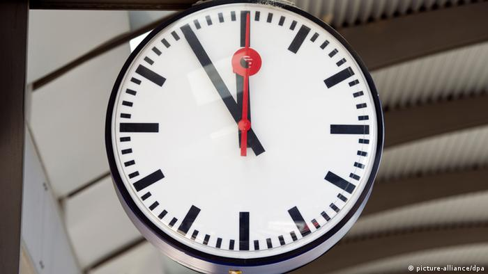 Clock at a German train station