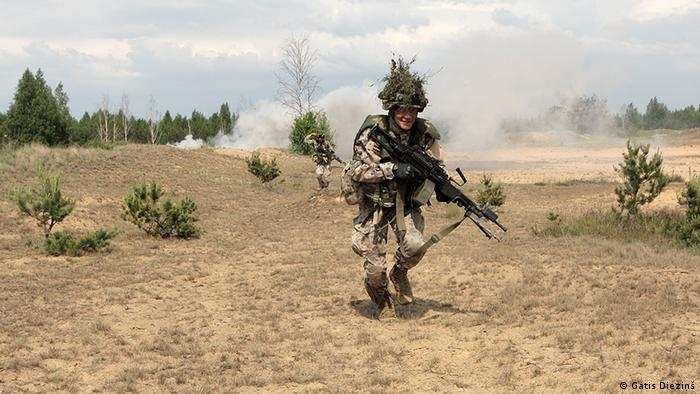 Lithuanian soldier on NATO manuvers.
