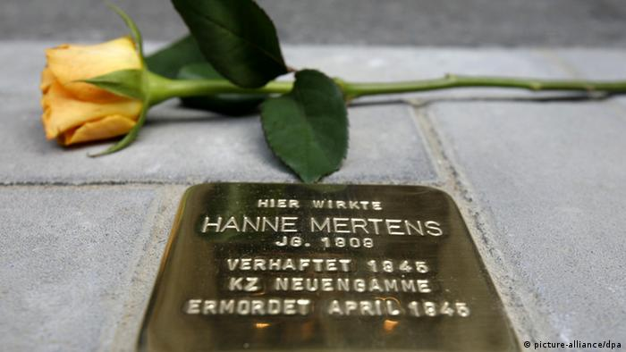 Stolperstein in Hamburg