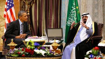 President Obama with King Abdullah during his official visit to Saudi Arabia