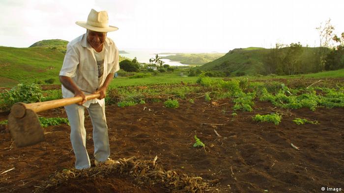 Ein Bauer in Afrika bei der Feldarbeit (Foto: imago)