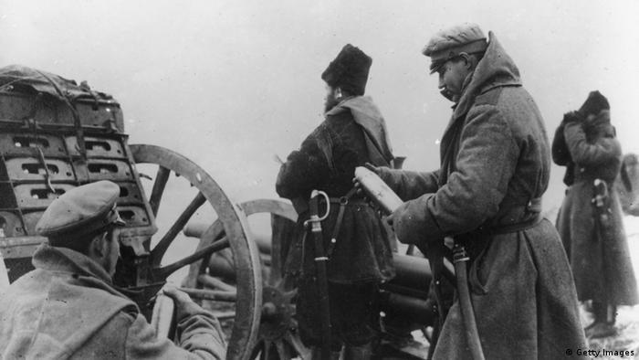 На передовой. Январь 1916 года