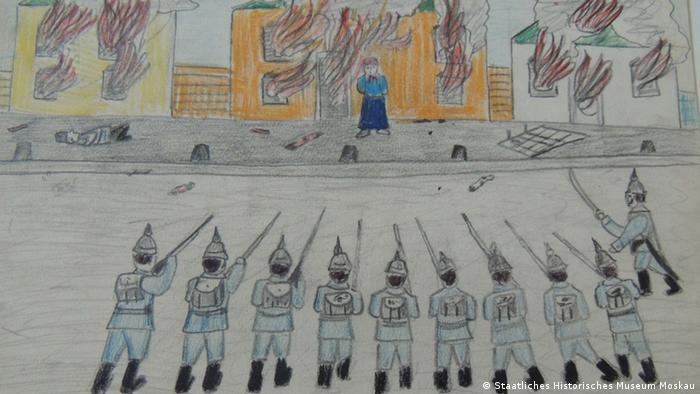 А так дети изображали военные действия