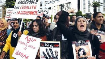 Women's rights march in Rabat, Morocco