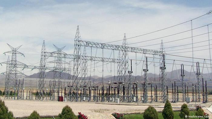 Das Stromnetz im Iran (mehrnews.com)