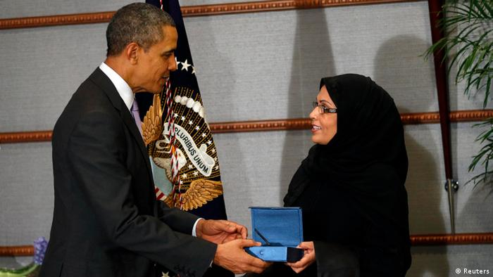Saudi Arabien Riad Obama Maha Al Muneef Woman of Courage Award