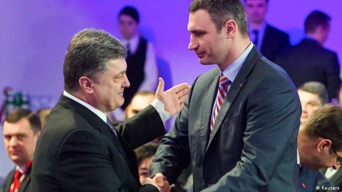 Петро Порошенко і Віталій Кличко
