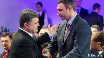 Petro Poroschenko and Vitali Klitschko (Photo: REUTERS/Andriy Skakodub/Pool)