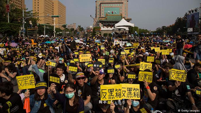 Taiwan Proteste in Taipeh 30.03.2014