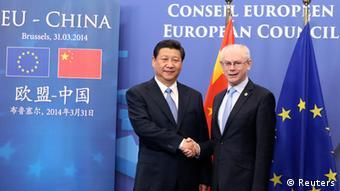 Xi in Brüssel mit Van Rompuy 31.03.2014