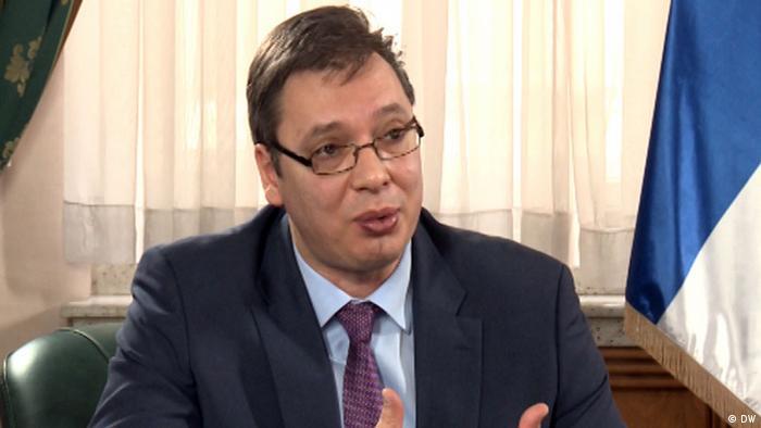 Serbien Aleksandar Vucic im DW Interview
