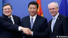 Xi in Brüssel mit Barroso und Van Rompuy 31.03.2014