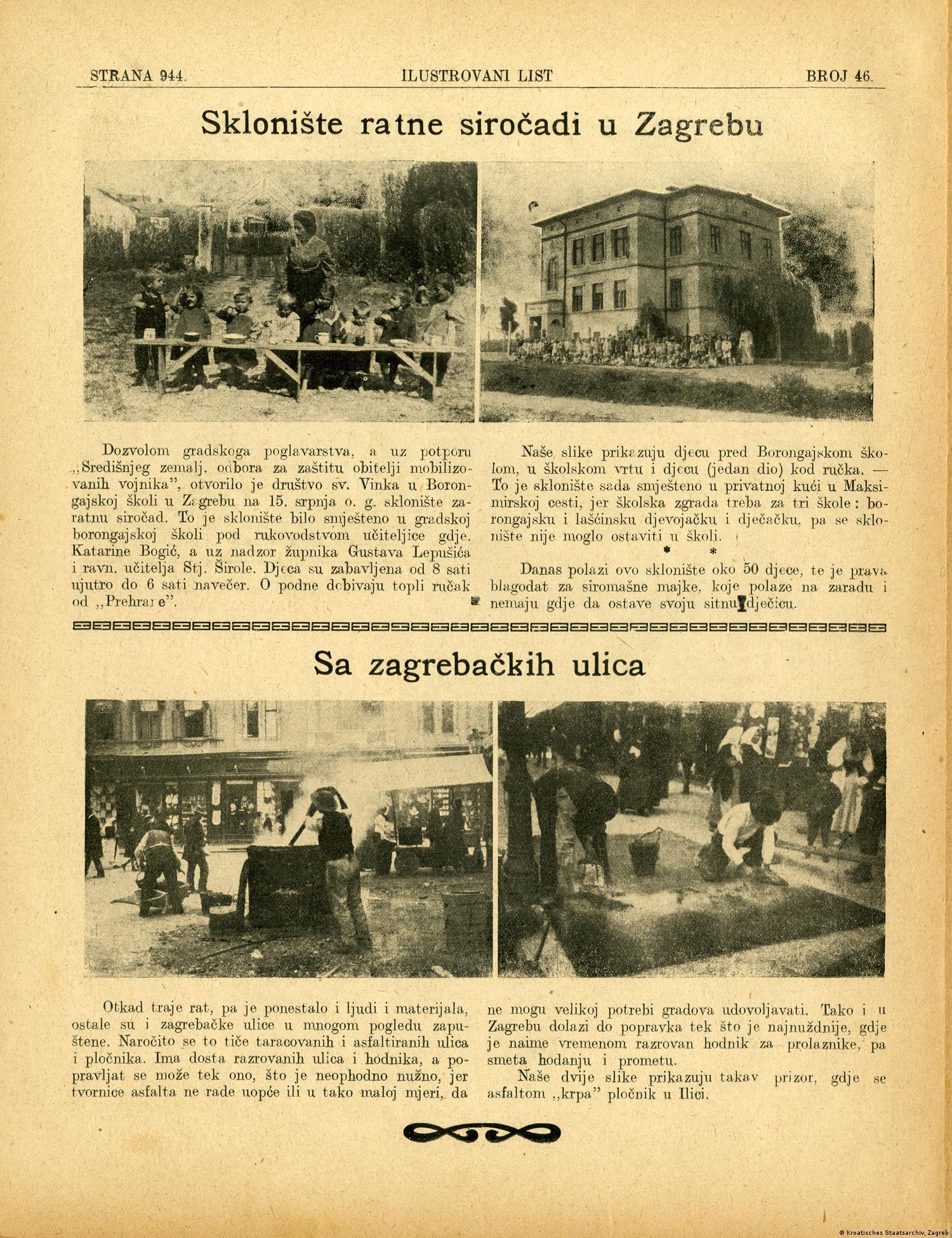 Isječak iz Ilustrovanog lista 1916. govori o životu u Zagrebu