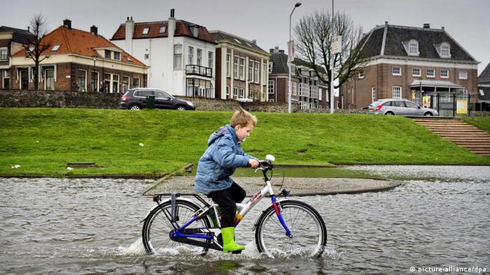 The river Waal rose to dangerous levels most recently in December 2012 (Photo: EPA/Koen van Weel, dpa - Bildfunk)
