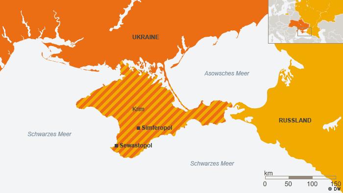 Karte der Krim (Grafik: DW)