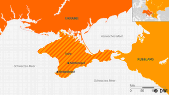 Karte der Krim