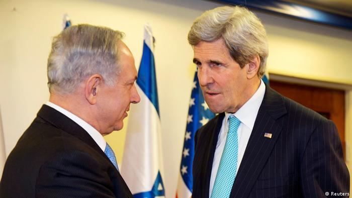 Kerry in Israel Benjamin Netanjahu 31.03.2014