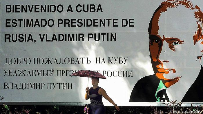 O imagine surprinsă în anul 2000, cu ocazia vizitei preşedintelui Vladimir Putin în Cuba