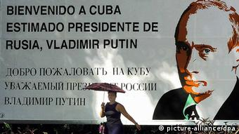 Vladimir Putin's 2000 visit to Cuba (picture-alliance/dpa)