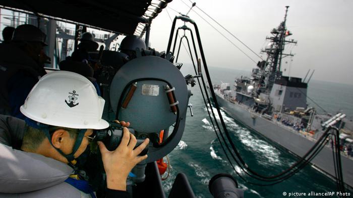 Japan Kriegsschiff Onami Archiv 2008 (picture alliance/AP Photo)