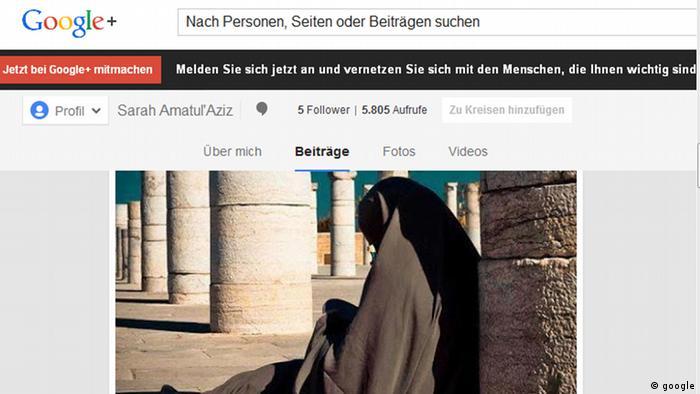 Google-Plus-Account von Sarah Amatul Aziz - (Foto: Google)