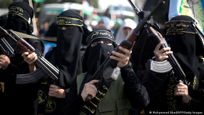 Palästinensische Frauen im Dschihad - (Foto: Mohammed Abed/AFP)