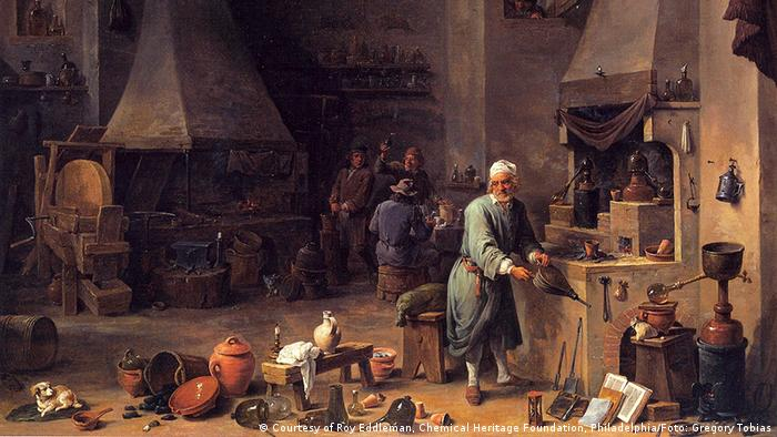 Gemälde: David Teniers d.J., Alchemist in seiner Werkstatt, um 1650, (Foto: ©Courtesy of Roy Eddleman, Chemical Heritage Foundation, Philadelphia / Foto: Gregory Tobias)