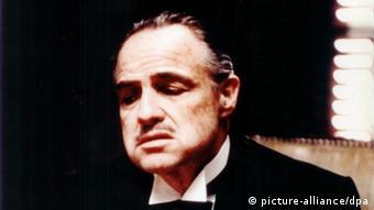 Rosto do ator Marlon Brando