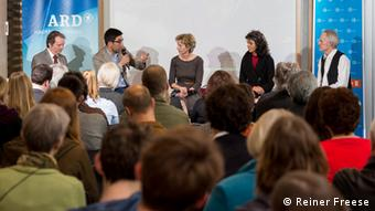 Discussion round on the media situation in Afghanistan at ARD-Hauptstadtstudio (photo: Reiner Freese).