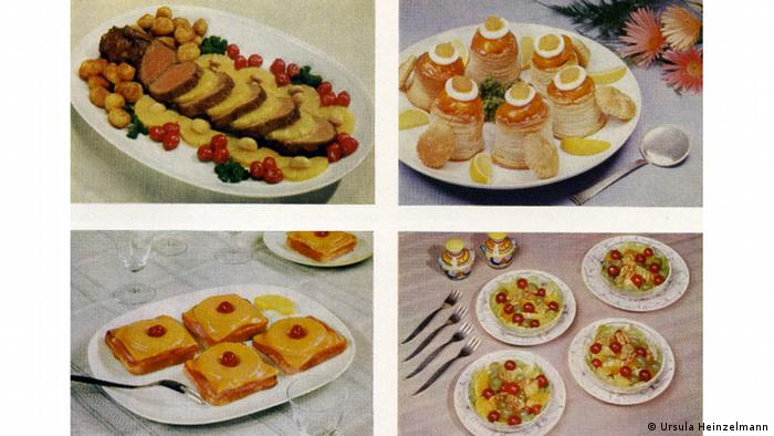Toast Hawaii and other dishes for parties from the early 1960s, Courtesy: Ursula Heinzelmann