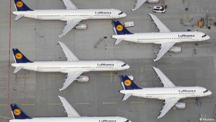Zrakoplovi Lufthanse - na zemlji