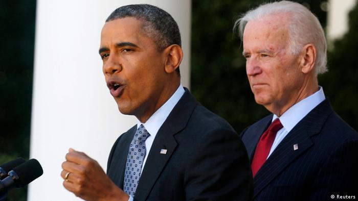 سال ۲۰۱۴، باراک اوباما در دومین دور ریاست جمهوری خود در کنار جو بایدن، معاون رئیس جمهور
