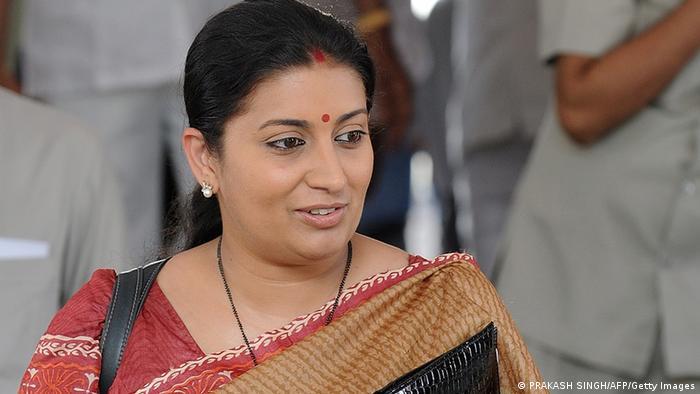 Indien Parteien Smriti Irani von Bharatiya Janata Party