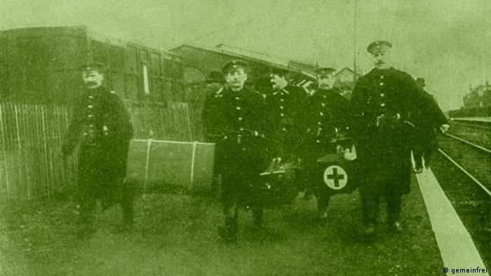 Courrieres Grubenunglück 1906 deutsche Rettungsmannschaft (gemeinfrei)