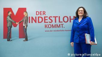 Andrea Nahles PK zu Mindestlohn 02.04.2014