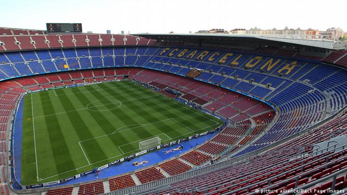 Camp Nou Stadion in Barcelona Archiv