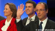 Frankreich Hollande und Valls und Royal Archivbild 2011