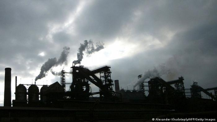 steel factory copyright: Alexander KHUDOTEPLY/AFP/Getty Images