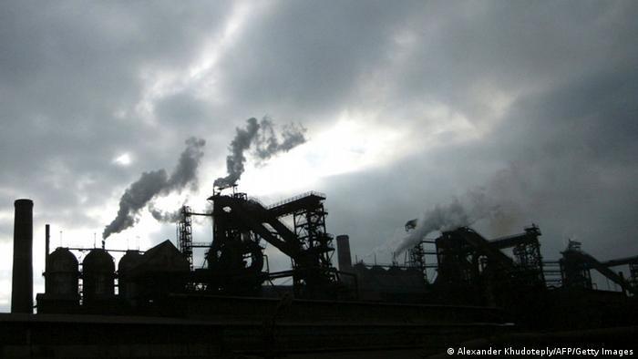 Stahlfabrik in Mariupol, Ukraine