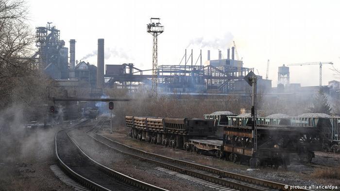 Industrie in Donezk, Ukraine